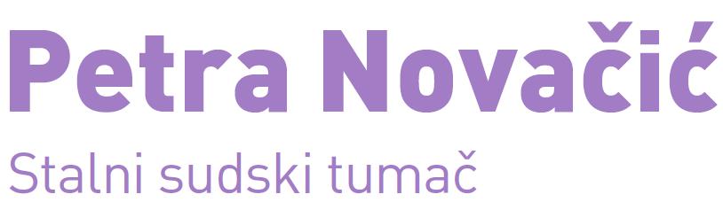 Petra Novačić, sudski tumač za ukrajinski jezik